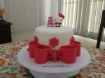 One tier Hello Kitty cake