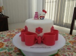 One tier Hello Kitty cake