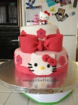 Two tier Hello Kitty cake